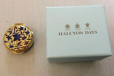 Halcyon Days Enamel Box - Gold & Blue Enameled Watch Based On Museum Of London
