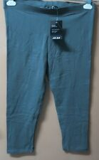 Q10:New H&M Ladies Stretchy Cropped Leggings-XL-S:32-34-Davy's Grey