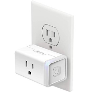 Plug Mini With Energy Monitoring Smart Home Kp115 Wi-fi Outlet Works White