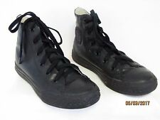 5c303021b3e2 EUC Converse Chuck Taylor All Star Boys Black Rubber High Tops Tennis Shoes  1