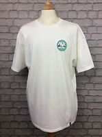 HUF RHYTHM MENS WHITE T-SHIRT TEE TOP TSHIRT SKATE SHORT SLEEVE RRP £35