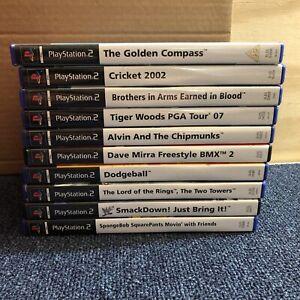 10 x PlayStation 2 Game Bundle (B4)