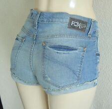 Fox Racing pour Femme Pin Up Short Jeans - Réparé Lavage Sz 5/27