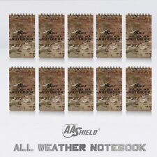 """AA Shield All Weather 3""""X5"""" Note Book Camo Color Waterproof Outdoor Map 10 pcs"""