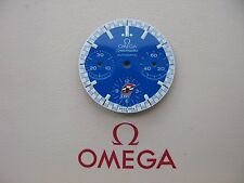Brand New Omega Speedmaster Automatic Reduced CART Chronograph Blue Dial