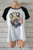 Harry Potter Graphic Print T Shirt Top Size Xl White Black Hermione Weasley