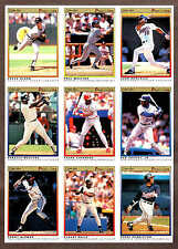 1991 OPeeChee (OPC) Premier Uncut Proof Nine-Panel, Griffey Jr., Molitor..
