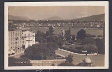 SWITZERLAND 1920's GENEVA ALPINE VIEW & MONT BLANC REAL PHOTO POSTCARD RPPC