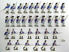 33 Napoleonic ? Soldiers - Metal Part Painted - (3229)