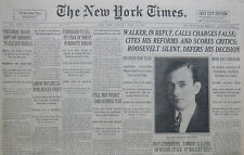 4-1931 APRIL 21 MAYOR WALKER REPLY FDR SILENT. LONDON MATCHES NICARAGUA POLICY