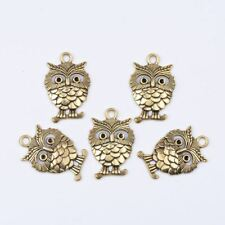 Tibetan Silver Owl Charm Necklace Bracelet Pendant Jewelry Findings #37