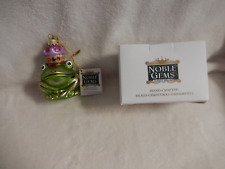CHRISTMAS 3.5''INCH  NOBLE GEMS GLASS FROG PRINCE ORNAMENT-NEW-BOXED