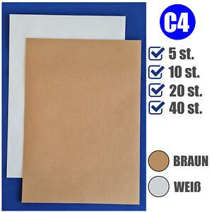 Briefumschläge extra stark 120g ohne Fenster DIN A4 C4 Versandtasche 229x334 mm