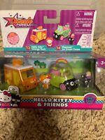 2018 Jada Dazzle Dash Hello Kitty /& Friends DieCast HELLO KITTY PRETZEL COUPE