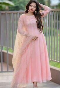 Pakistani Anarkali Gown Indian new Designer Suit Ethnic Party Wear Salwar Kameez