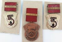 3 X EAST GERMAN COLD WAR AKTIVIST BADGES 1952 1953 1959 DDR NVD STASI SOVIET