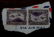 Vintage Used Set of 2 Nicaragua 50 Cincuenta Centavos De Cordoba Stamp, Brown
