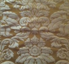 SCALAMANDRE Lucia Gaufre Damask Gold Silk Remnant New