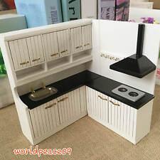 Dollhouse Miniature Modern Kitchen Furniture HighBacked Worktop 1:12 Scale Model