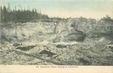 Cardinell California C-1910 Hydraulic Placer Mining Postcard hand colored 6790