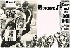 Publicité advertising 1972 (2 pages) radio europe 1 bowl gold