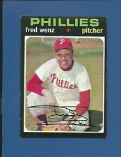 1971 Topps # 92 Fred Wenz - Phila. Phillies - EX/MT - Additional ship free