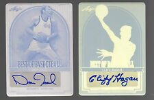 2012 LEAF BEST DAN ISSEL CLIFF HAGAN 1/1 PRINTING PLATE AUTO KENTUCKY WILDCATS