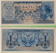 Indonesia   1 Rupiah   P-74  1956   Unc  Banknote  Asia