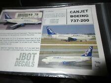 JBOT DECALS 1/200th BOEING 737-200 CANJET decals # 200-13-01