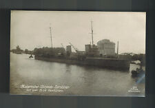 Mint Real Picture Postcard Germany Navy Kriegsmarine Torpedoboat at Dock WW 1