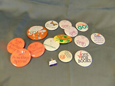 14 Vtg advertising pins buttons Reading Library books stories learning literary