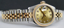 ROLEX REHAUT 26mm Gold & Stainless DateJust CHAMPAGNE Diamond 179173 SANT BLANC