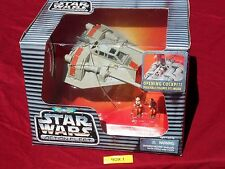 """Star Wars Action Fleet REBEL SNOWSPEEDER """"Clean"""" Galoob Micro Machines Silver"""