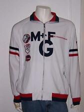 Men'S Marithe Francois Girbaud White Zipper Jacket #38 Football Size Large