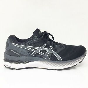 Asics Womens Gel Nimbus 23 1012A885 Gray Black Running Shoes Lace Up Size 8.5
