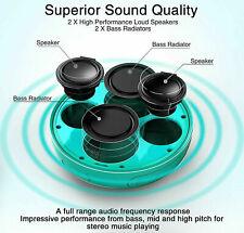 Kinps 6 Inch Wireless Sound Circular Bluetooth Loud Bass Speaker 32 Hour Battery