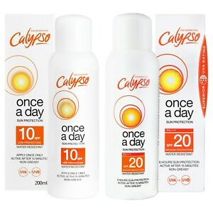 Calypso Once a Day Sun Protection | SPF 10 and SPF 20 | Multipack