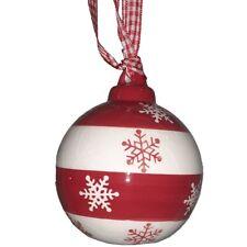 Palline rosse in ceramica 4pz per albero di Natale addobbi decorazioni natalizi
