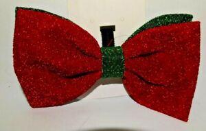 Huxley & Kent Dog Puppy Collar Bow Tie Christmas Red Green Glitter Fancy XL