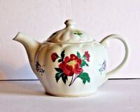 Laura Ashley Porcelain Teapot PARFUMS Red and Yellow Flowers