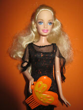 B1083) vieja rubio barbie mattel original. Enchanted Halloween vestido + zapatos + cepillo