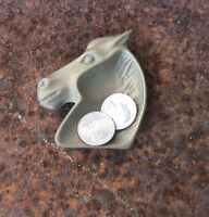 Vtg Metal Western Horse Head Trinket Money Change TRAY