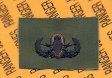 US Army EOD Explosive Ordnance Disposal OD Green & Black badge cloth patch