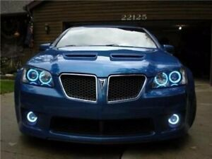 White LED Halo Fog Lamps Light Kit For 2008-2009 Pontiac G8 Lights 08 driving gt