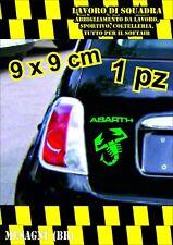 adesivo adesivi abarth stickers tuning scorpione auto fiat 500 moto VERDE GREEN