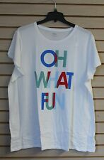 NEW OLD NAVY WOMENS PLUS SIZE 3X OH WHAT FUN SNOW CHRISTMAS HOLIDAY SHIRT TOP