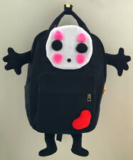 Ghibli Spirited Away No Face Canvas Bag Rucksack Satchel Anime School Backpack-L