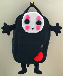 Ghibli Spirited Away No Face Canvas Bag Rucksack Satchel Anime School Backpack-L