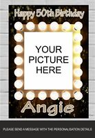 Happy Birthday Party Poster Banner Personalised Picture & Name Any Age (TP163)