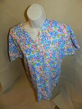 Scrub HQ Blue Green Red Top - XS - Extra Small